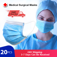 Medical Surgical Masks Antivirus N95 Respirator Mouth Mask 3 Layer Disposable Medical Masks for germ Protection as KF94 FFP2