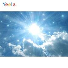 Yeele Sky Cloud Sunshine Travel Natural Scenery Photography Backgrounds Custom Photographic Backdrop For Photo Studio Props цена