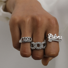 Bohemian Vintage Water Drops Metal Punk Letter Geometric Crystal Ring Set Women Charm Joint Fashion Wedding Jewelry Gift