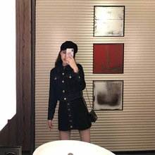 2019 Early Autumn Suit New Women's Dress Suit Fashion Heart Machine Coat Thin Long-sleeved Skirt Suit 2 Piece Set Women