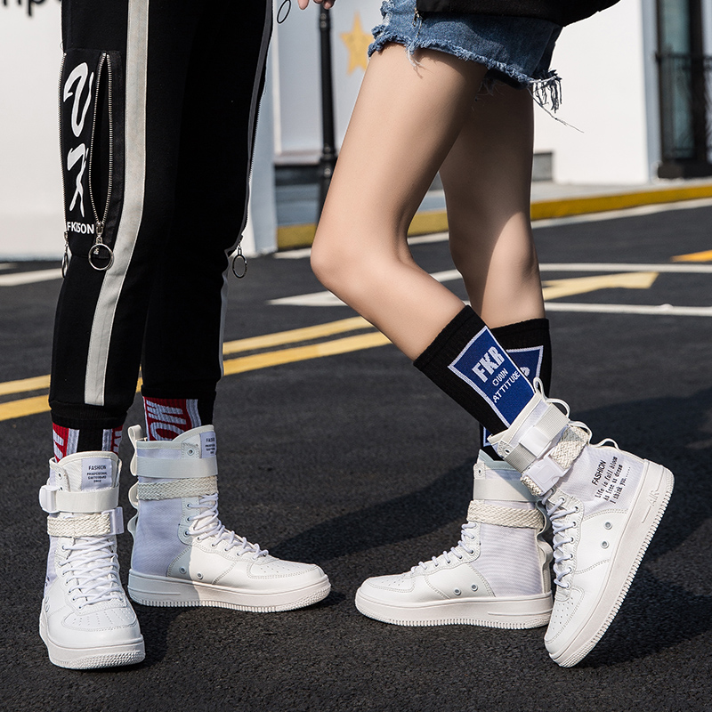 2019 Autumn Air Force 1 Couples Male And Women Shoes High Boots