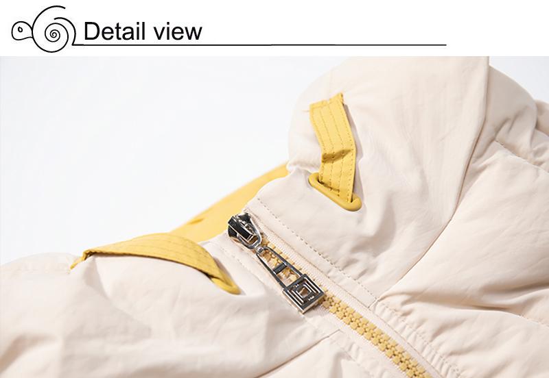 2019 Winter New Short Jacket Women Standing Collar Female Hooded Coat_B4_15