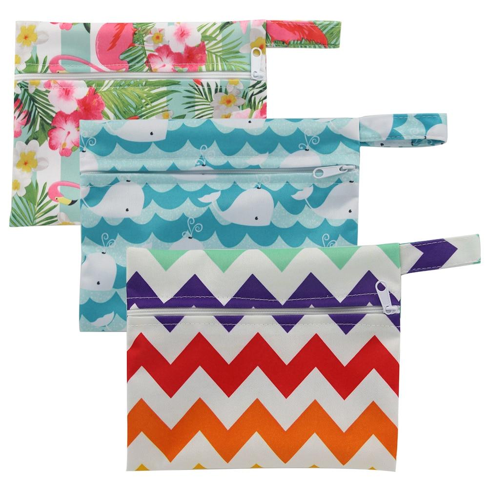 Small Mini Wet Bag Reusable For Mama Cloth Sanitary Menstrual Maternity Pads Washable Zippered Cloth Diaper Bag