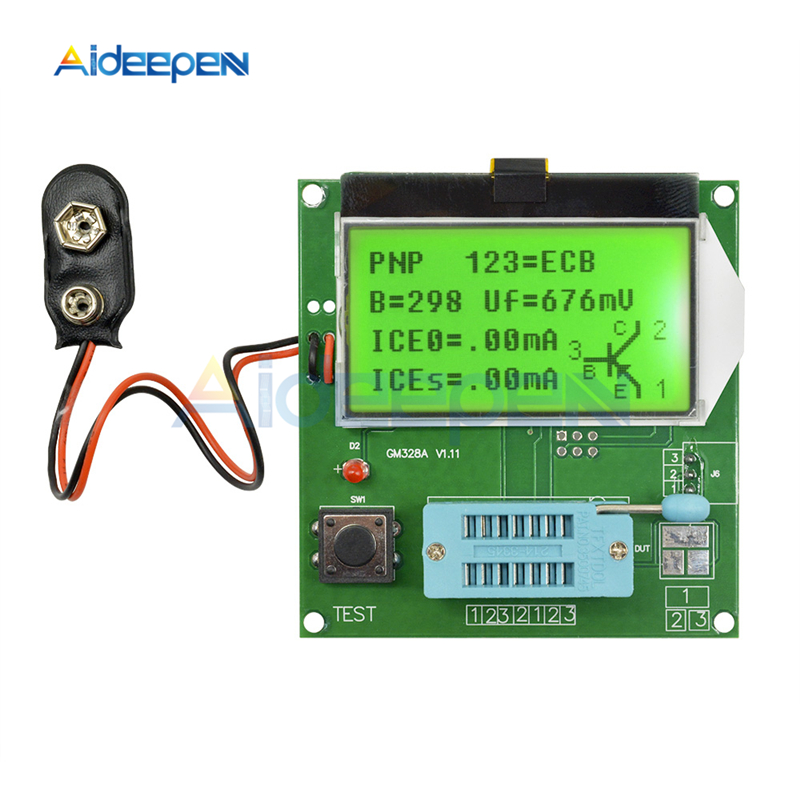 GM328A Transistor Tester di Capacità ESR Meter LCR \ RLC \ PWM \ ESR Meter MOS/PNP/NPN V2PO 1 MHz-2 MHz