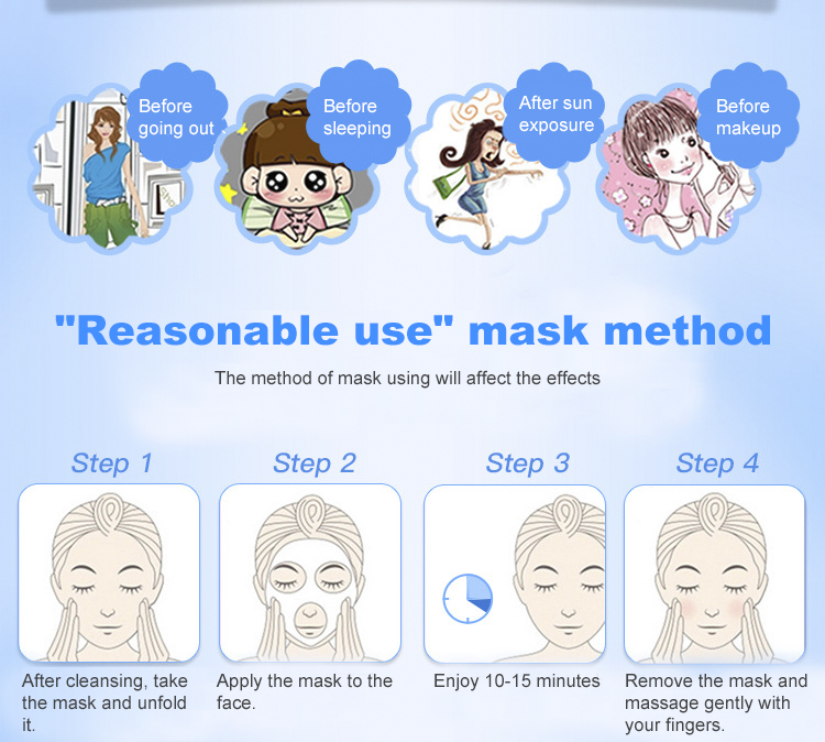 10 Pieces Hyaluronic Acid Hydration Facial Masks Pores Moisturizing Oil-control Anti-Aging Depth Replenishment Whitening Mask-4