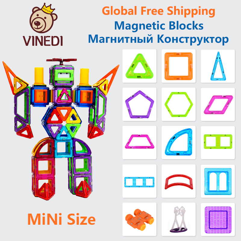 VINEDI MiNi Size Magnetic Blocks Magnetic Designer Constructor Set Model & Building Toy Magnets Educational Toys For Children