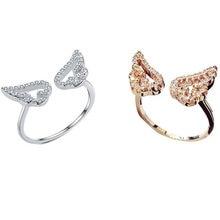 Новое модное Открытое кольцо с крыльями для женщин и девочек