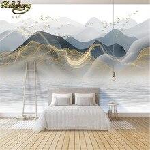 Scenery-Wallpapers 3d Mural Modern Luxury Ink-Landscape Custom Abstract Beibehang Living-Room