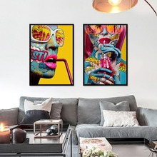 Abstract Sunglasses Girl Wall Art Canvas Painting Nordic Poster Art Prints Wall Pictures For Living Room Home Decor Unframed nordic canvas painting abstract living room golden art wall pictures print bedroom dinning room home decor unframed poster art