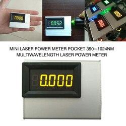 PINTUDY 0 10W Mini moc lasera miernik kieszonkowy 390 ~ 1024nm multidługość fali moc lasera miernik instrumenty elektryczne 2019 nowy w Mierniki mocy od Narzędzia na