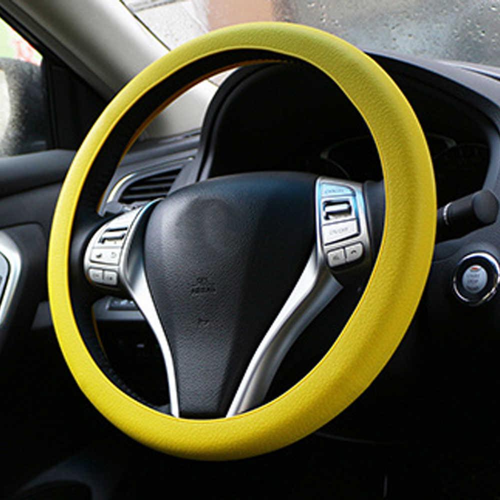 Cuir Texture Voiture Auto Couverture De Gant De Volant En Silicone Doux Multi Couleur Peau Universelle Couverture De Volant De Silicium Souple |  |  - AliExpress