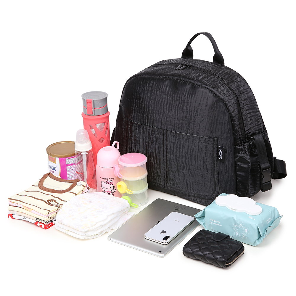 Soboba Waterproof Diaper Bag Backpack for Baby Care Large Capacity Multi-functional Mother Nappy Changing Bag with Wipe Bag