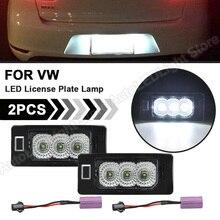 2Pc VW 골프 4 변형 골프 플러스 제타 Passat 변형 Sharan Touran Touareg LED 라이센스 번호 플레이트 라이트 램프 테일 라이트