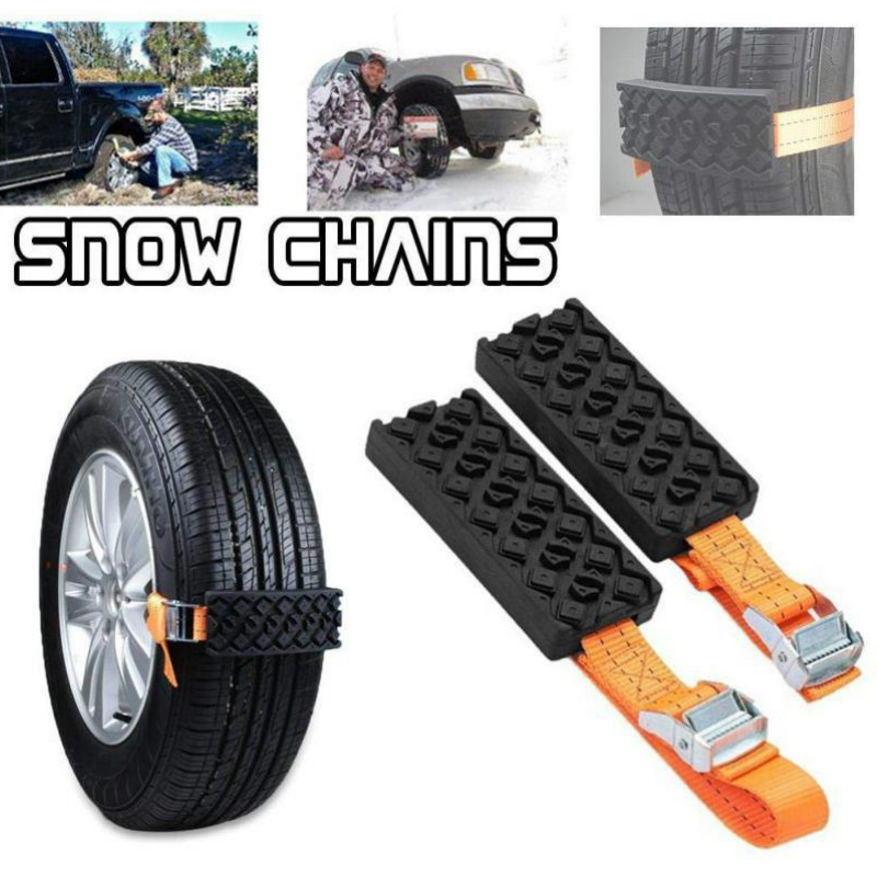 Traction Blocks Durable PU Anti-Skid Car Tire with Bag Emergency Snow Mud Sand Tire Chain Straps for Snow Mud Ice Escape Board