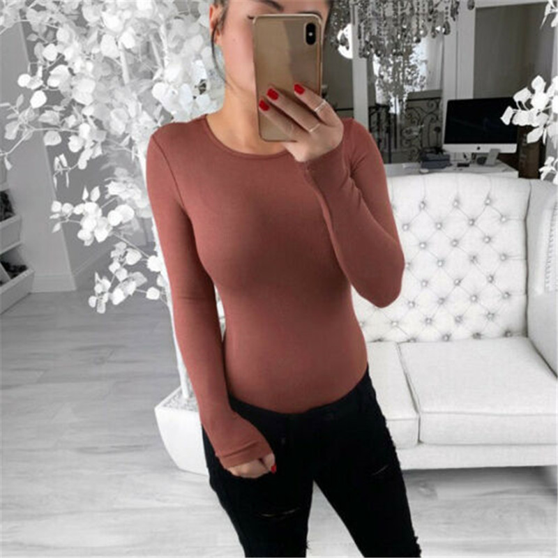 Sexy O Neck Knitted Bodysuit Women Black Long Sleeve Elegant Rompers Women Jumpsuit 2019 Casual One-pieces Bodysuits Sunsuits
