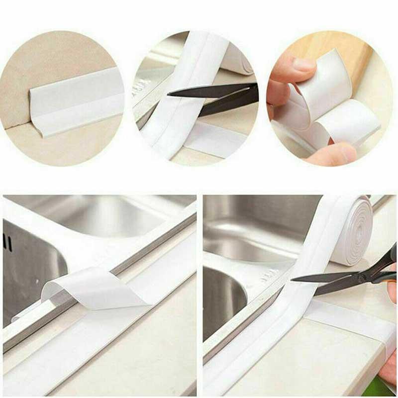 >Self Adhesive Tape Bathtub Bathroom Shower Toilet Kitchen Wall Sealing <font><b>Waterproof</b></font> <font><b>Mildewproof</b></font> Tape YU-Home