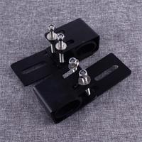 DWCX 2pcs Black Car Roof Crossbar Luggage Rack Light Bracket Holder Bumper Mounting Kit for LED Work Light Bar offroad vehicle