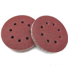 60 sztuk 8 otwory 5 Cal tarcze szlifierskie hak i pętli 60 100 180 240 320 400 Grit papier ścierny ortment dla Ran szlifierka oscylacyjna tanie tanio CN (pochodzenie) Woodworking NONE Other Sandpaper