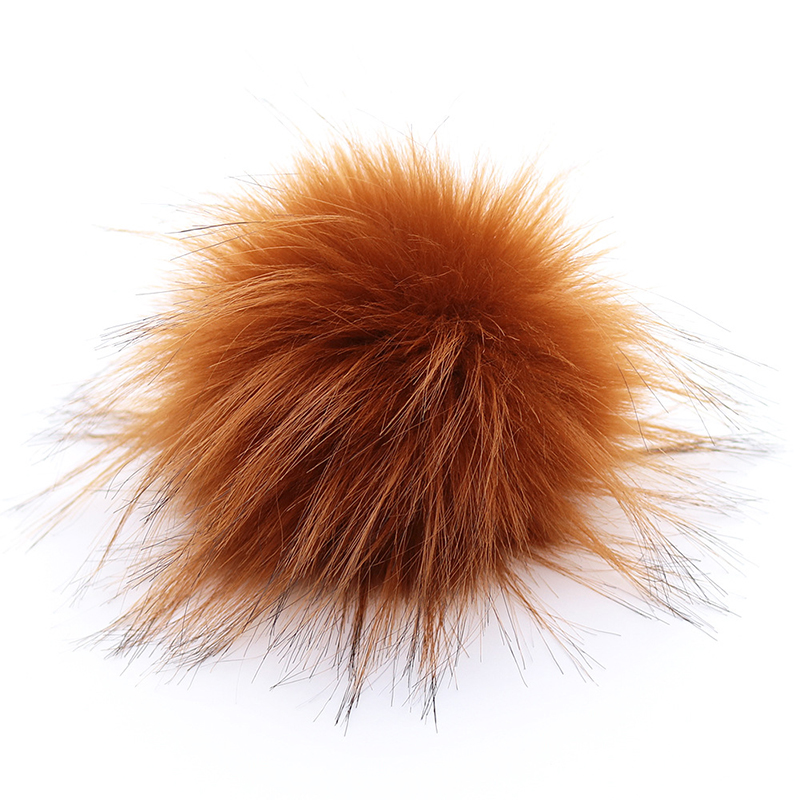 Fluffy Fake Fox Fur Pompoms 10cm DIY Fox Fur Pom Poms Balls Natural Fur Pompon For Scarves Hats Bags Accessories
