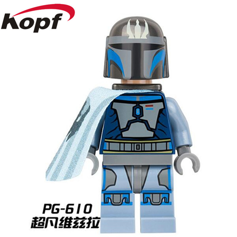 Building Blocks Star Wars Characters Warrior Trooper Mandalorian Warrior Action Figures Collection Learning&education Toys PG610