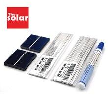 Célula Solar de 6V, 12V, 18V, 5W, 7W, 8W, 12W, 16W, 21W, 40W, 50W, Kit de cargador Solar artesanal, Panel Solar policristalino, barra colectora de alambre, Lápiz de soldadura