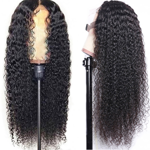 Image 5 - 13x4 Lace Front Human Hair Wigs 150% Pre Plucked  360 Lace Frontal Wig Remy Brazilian Curly Human Hair Wig 4X4 Closure Wig