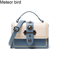 Meteor bird blue women shoulder bags ladies crossbody bag luxury messenger bag flap handbags for women