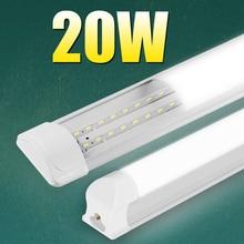Tubo de luz de led t5 220v, alto brilho 20w t8, barra de tubo de led à prova de tripla, moderno, parede lâmpada quarto 2 pés 60cm 600mm casa para casa