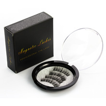 Three Magnetic Iron False Eyelashes 3D Magnetic False Eyelashes Handmade Natural Lifelike Magnet Eyelashes