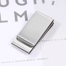 1 Pcs Fashion Stainless Steel Money Clip Silver Metal Pocket Holder Wallet Credit Cards