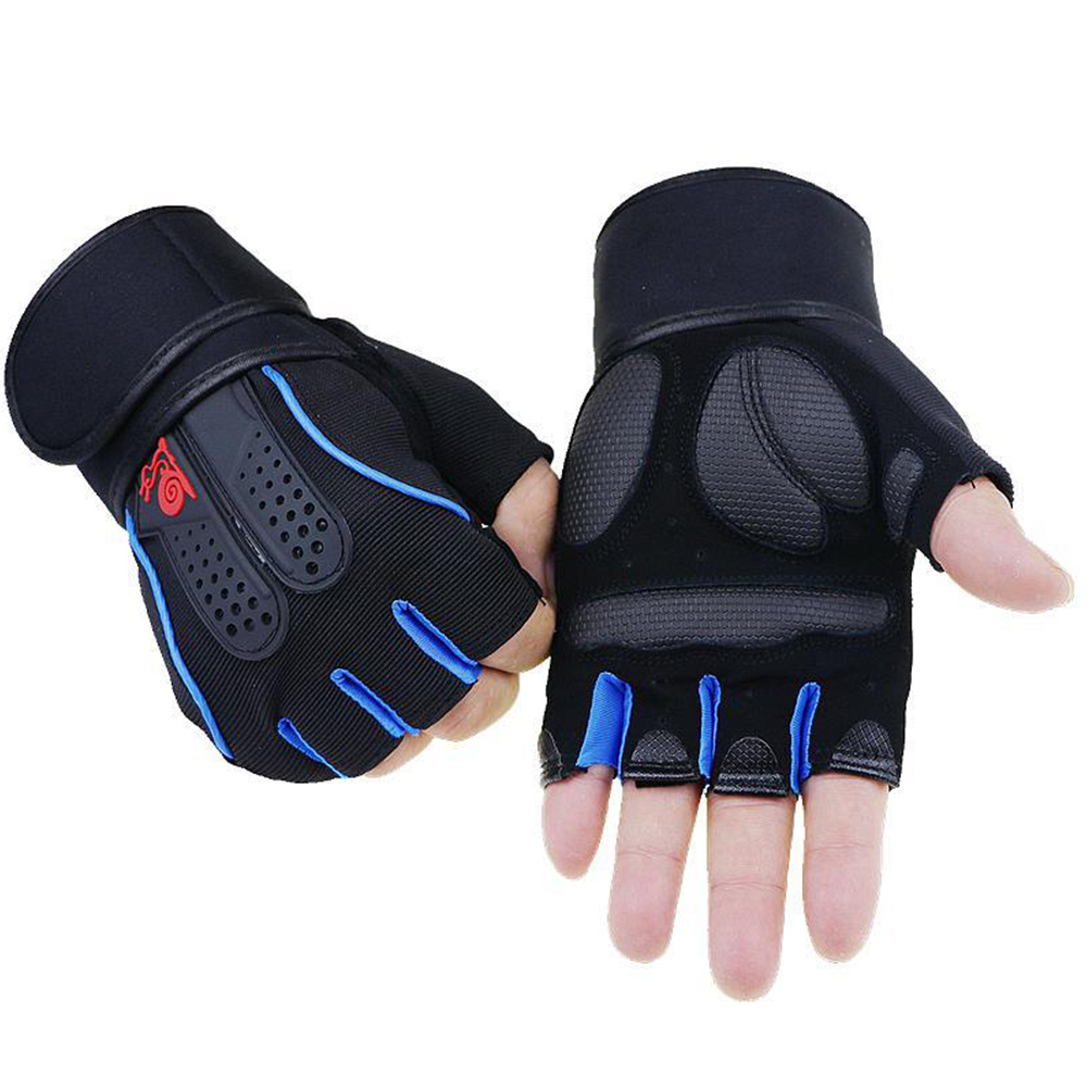 1 Pair Unisex Gym Fitness Gloves Exercise Training Workout Half Finger Glove Anti Slip Weight Lifting Gloves For Sports Cycling