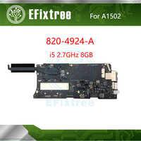 Placa base A1502 original probada para portátil, i5 2,7 GHz 8GB 820-4924-A, placa lógica 2015 Año para MacBook Pro Retina 13