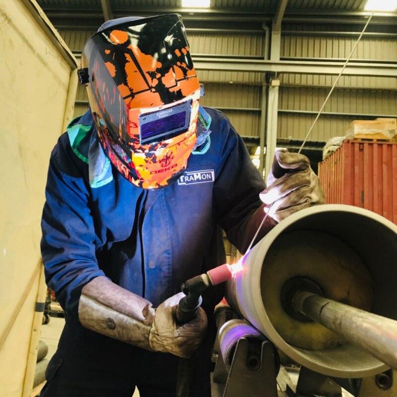 Image 5 - DEKO Skull Solar Auto Darkening Electric Welding Mask/Helmet/Welder Cap Adjustable Welding Lens Eyes Mask for Welding Machine-in Welding Helmets from Tools