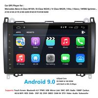 9 Inch 2 Din Android 10.0 Quad core Car Multimedia Player GPS Navigation For Mercedes/Benz/Sprinter/Viano/Vito/B class/B200/B180