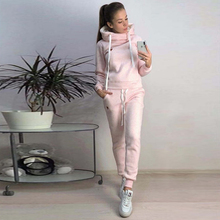2019 New Autumn Winter Women Sets Tracksuit Female Long Sleeve Pullover Jackets And Pants Two Piece Set Warm Outfits Suit