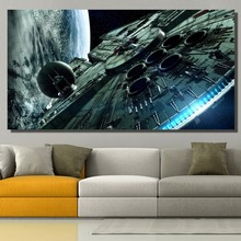 DDWW Photo Pictures Modern Canvas Spaceship Wall for Living Room Art No Framed Home Decor Print on Painting