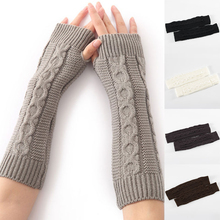 8-character Hemp Pattern Arm Cover Warm Arm Cover Knitted Arm Cover Stylish Fingerless Arm Cover All-match Clothing Accessories