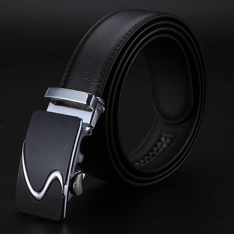Nuovo Famosa Cintura di Marca Cinghie di Cuoio per Gli Uomini, cinghia Maschio della cinghia Fibbia In Metallo Automatico di Alta Qualità di Lusso Genuino Formale Per Adulti 3.5 centimetri