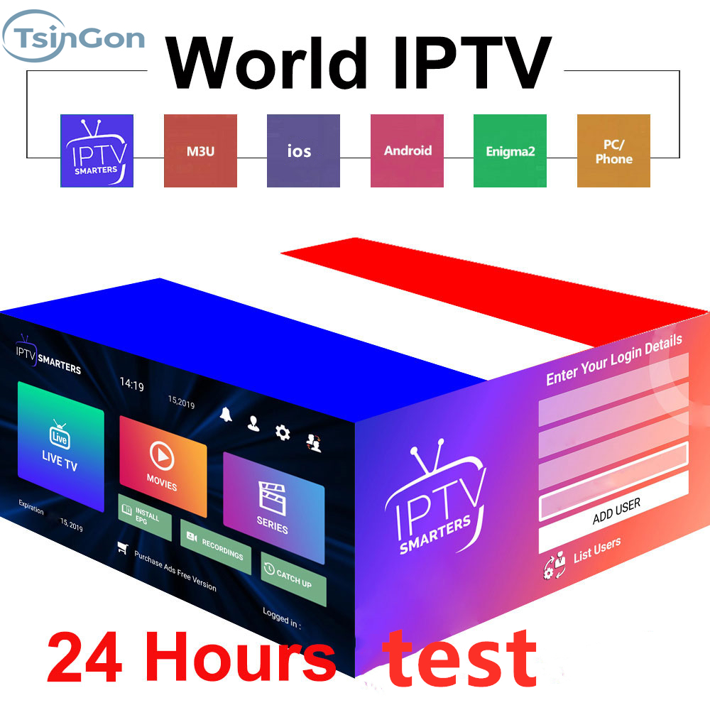 Stable 1 Year Abonnement IPTV France  4K Netherlands HEVC VOD Movies For Xtream Code M3u Smart IPTV Smarters Pro Android TV Box
