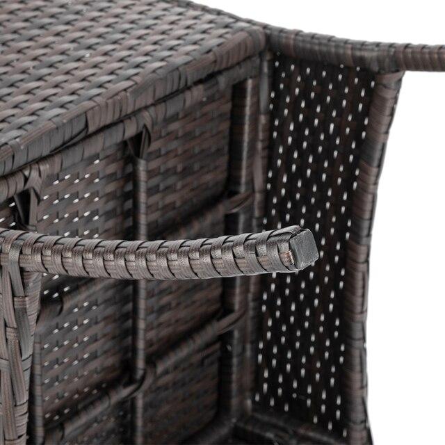 Comfortable Sofa Set PE Rattan and Iron Frame Bistro Set  5