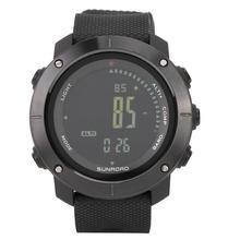 SUNROAD erkek açık spor akıllı dijital saat altimetre barometre ile çalar saat pusula termometre irtifa eğilim