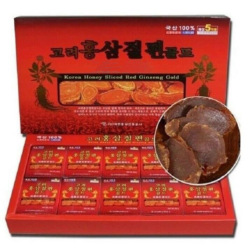 200g Korean Red Ginseng Root Slice (without Paper Case), Improve Fatigue , Improve Memory, Antioxidat