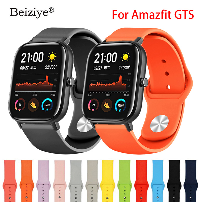 Soft Silicone Watchband Strap For Xiaomi Huami Amazfit GTS Smart Watch Band Bracelet Sport Replacement Wristband Accessories