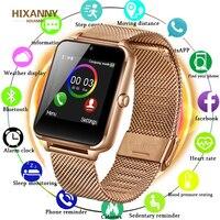Bluetooth GT08 Plus Metall Band Smart Uhr Z60 Bluetooth Handgelenk Smartwatch Unterstützung Sim TF Karte Android & IOS Uhr PK q9|Smart Watches|   -