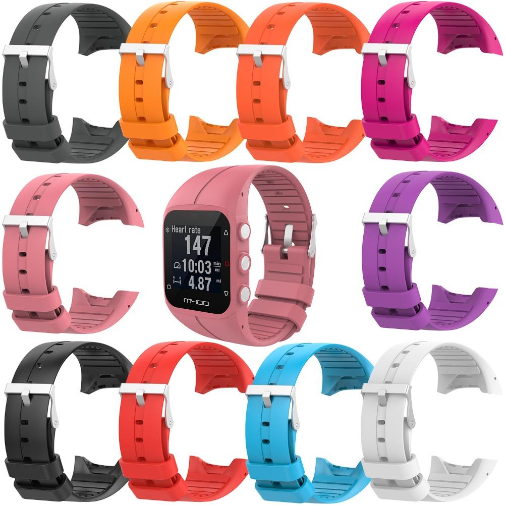 Replacement Silicone Adjustable Watch Band Strap With Tools For Polar M400 M430 With Tools