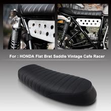 Moto Depoca Sella Cafe Racer Sedile Piatto Brat per Honda CB CL Yamaha SR XJ SUZUKI GS
