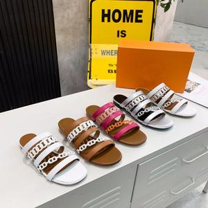 Candy Color Women Slippers Summer Open Toe Waterproof Flip Flop Slippers Runway Design Flat Slippers Women Geunine Leather Shoes