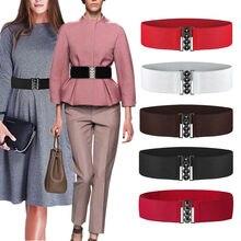 Goocheer 2019 Brand New Womens Fashion Elastic Cinch Belt Wide Stretch Waist Band Clasp Buckle
