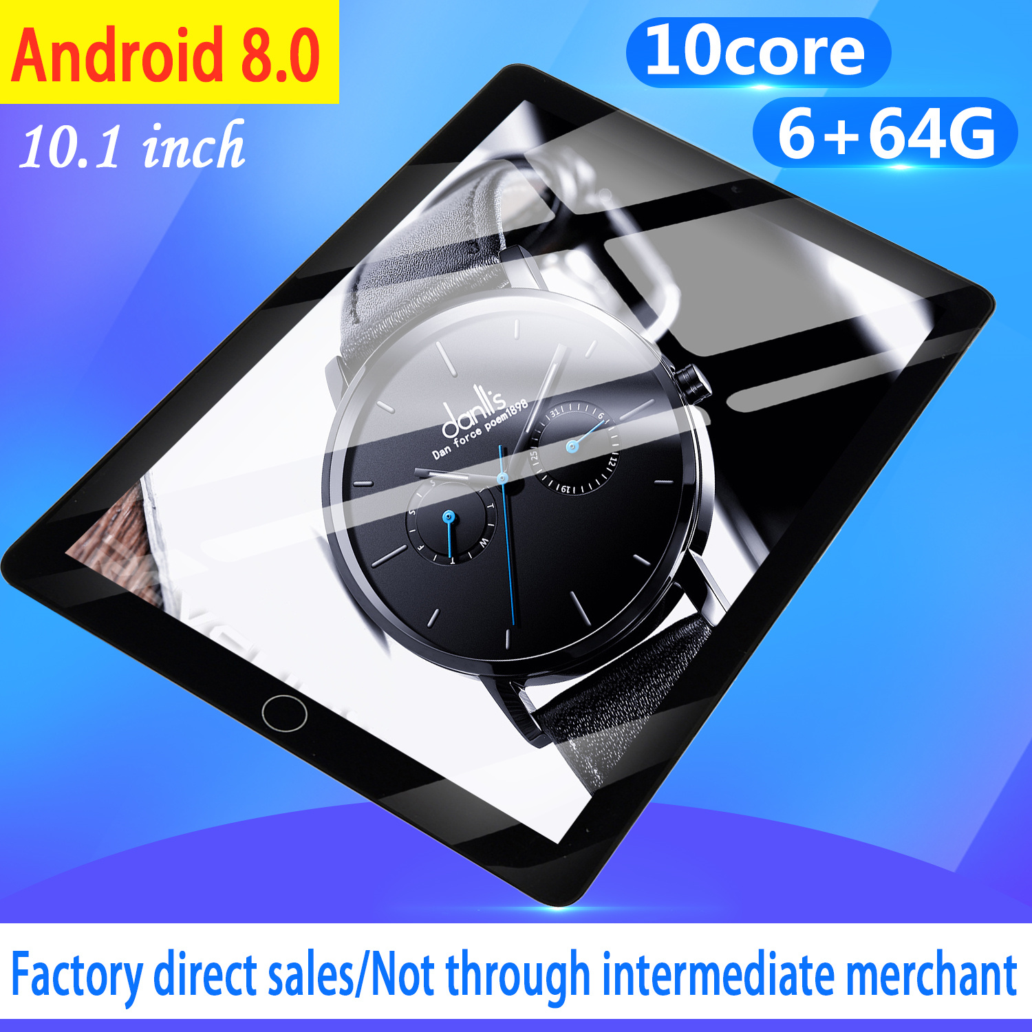WiFi Tablet PC Screen 10 Inch Ten Core 6G+64G Android 8.0 Dual SIM Dual Camera Tablet GPS Phone Pad 2020