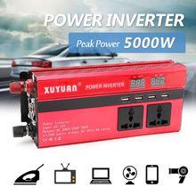 5000W Solar Power Inverter Sine Wave LED 4 USB DC12V To AC110V/220V Convert